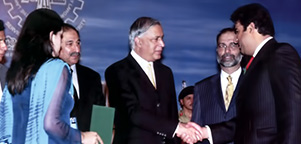 The Prime Minister of Pakistan Mr. Shaukat Aziz Awarding the Best Businessman (Gold Medal) year 2007