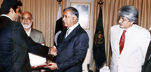 Receiving Best Businessman (Gold Medal) from The Prime Minister of Pakistan Mr. Shaukat Aziz