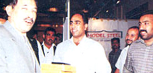 Lt. General Khalid Maqbool (Governer Punjab) visiting the Model Steel Stall