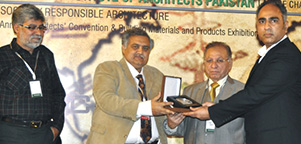 Receiving Best Stall Award in IAPEX 2013, Expo Center, Lahore